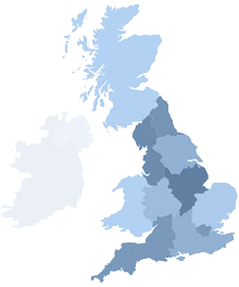 United Kingdom - Select a region from the map